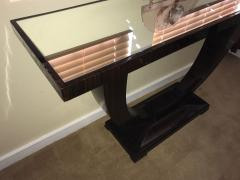 Art Deco Console U Shaped Base in Macassar wood in the style of Ruhlmann - 1387208