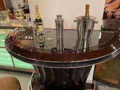 Art Deco Custom Fluted Front Stand Behind Bar with Chrome - 1334182