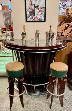 Art Deco Custom Fluted Front Stand Behind Bar with Chrome - 1334183