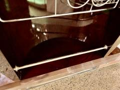 Art Deco Custom Fluted Front Stand Behind Bar with Chrome - 1334189