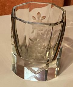Art Deco Czech Decanter Glasses with Leopard Gold Black Designs - 1418666
