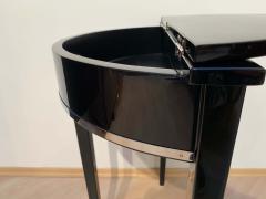 Art Deco Demi Lune Console Table Black Piano Lacquer on Oak France circa 1930 - 1331660