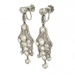 Art Deco Diamond Earrings approximately 6 carats total weight - 1284691