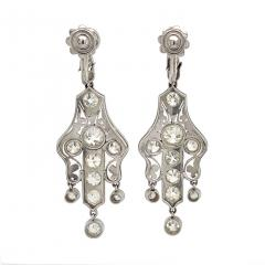 Art Deco Diamond Earrings approximately 6 carats total weight - 1284692