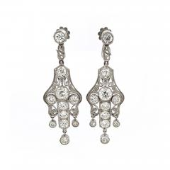 Art Deco Diamond Earrings approximately 6 carats total weight - 1288253