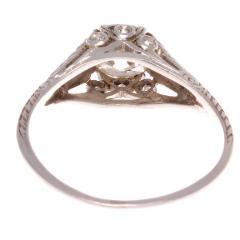 Art Deco Diamond Platinum Engagement Ring - 390704