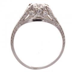 Art Deco Diamond Platinum Engagement Ring - 390705