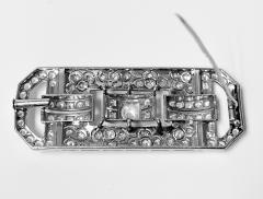 Art Deco Diamond and Platinum Brooch C 1925 - 2081404