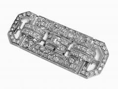 Art Deco Diamond and Platinum Brooch C 1925 - 2081405