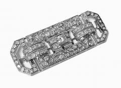 Art Deco Diamond and Platinum Brooch C 1925 - 2081406