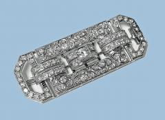 Art Deco Diamond and Platinum Brooch C 1925 - 2081407