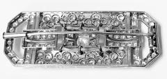 Art Deco Diamond and Platinum Brooch C 1925 - 2081409