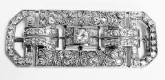 Art Deco Diamond and Platinum Brooch C 1925 - 2081410