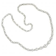 Art Deco Diamond and Platinum Necklace Converts to Varying Lengths and Bracelet - 1095897