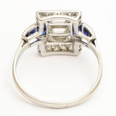 Art Deco Diamond and Sapphire Ring - 169060