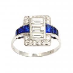Art Deco Diamond and Sapphire Ring - 169096