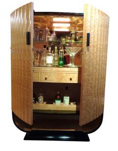 Art Deco English Hille Glamour Bar Peach Mirror - 1601158