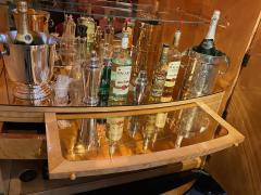 Art Deco English Hille Glamour Bar Peach Mirror - 1601167