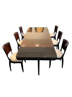 Art Deco Expandable Dining Room Set Macassar Ebony France circa 1925 - 1488024