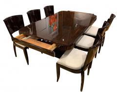 Art Deco Expandable Dining Room Set Macassar Ebony France circa 1925 - 1488025