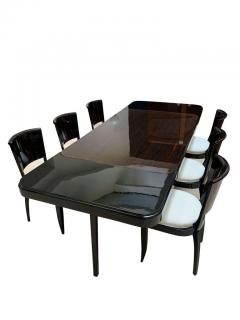 Art Deco Expandable Dining Room Set Macassar Ebony France circa 1925 - 1488026
