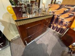 Art Deco Fluted Stand Behind Bar with Matching Stools - 1807041
