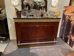 Art Deco Fluted Stand Behind Bar with Matching Stools - 1807043