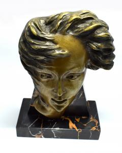 Art Deco French Bust On Marble Base Circa 1930 - 1105998