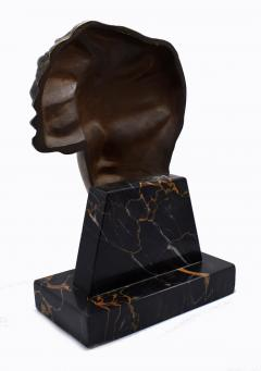 Art Deco French Bust On Marble Base Circa 1930 - 1106000