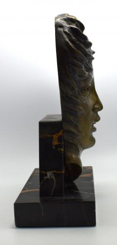 Art Deco French Bust On Marble Base Circa 1930 - 1106001