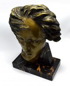Art Deco French Bust On Marble Base Circa 1930 - 1106004