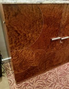 Art Deco French Custom Amboyna Burl Wood with Inlay Buffet - 1600925