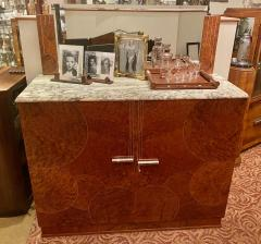 Art Deco French Custom Amboyna Burl Wood with Inlay Buffet - 1600926