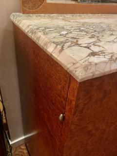 Art Deco French Custom Amboyna Burl Wood with Inlay Buffet - 1600927