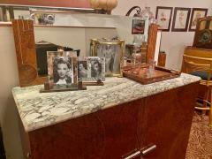 Art Deco French Custom Amboyna Burl Wood with Inlay Buffet - 1600933