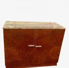 Art Deco French Custom Amboyna Burl Wood with Inlay Buffet - 1600935