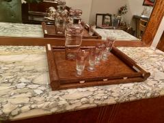 Art Deco French Custom Amboyna Burl Wood with Inlay Buffet - 1600936