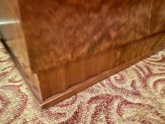 Art Deco French Custom Amboyna Burl Wood with Inlay Buffet - 1600937