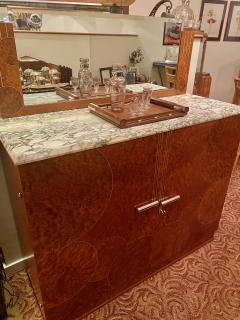 Art Deco French Custom Amboyna Burl Wood with Inlay Buffet - 1600938
