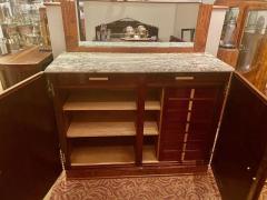 Art Deco French Custom Amboyna Burl Wood with Inlay Buffet - 1600940