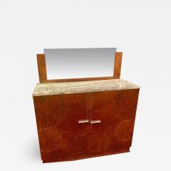 Art Deco French Custom Amboyna Burl Wood with Inlay Buffet - 1601768
