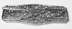 Art Deco French Diamond Platinum plaque Brooch C 1910 - 2061536