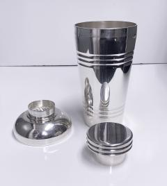 Art Deco French Large Silver Plate Cocktail Shaker C 1930 Original Box - 1631145