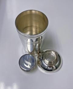 Art Deco French Large Silver Plate Cocktail Shaker C 1930 Original Box - 1631146