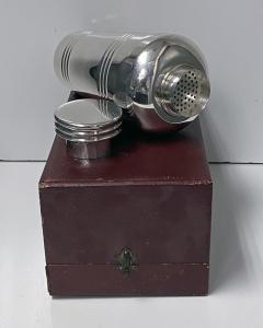 Art Deco French Large Silver Plate Cocktail Shaker C 1930 Original Box - 1631150