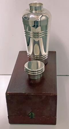 Art Deco French Large Silver Plate Cocktail Shaker C 1930 Original Box - 1631152