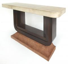 Art Deco Goatskin and Ostrich Clad Console Tables Pair - 1219136