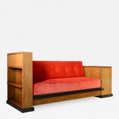 Art Deco Haagse School Cosy Corner or Sofa by Jan Brunott circa 1920 - 664576