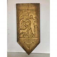 Art Deco Hand Carved Wall Sculpture - 1370377