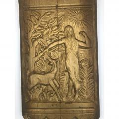 Art Deco Hand Carved Wall Sculpture - 1370378